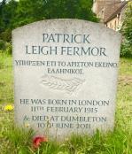Patrick Leigh Fermor - gravestone