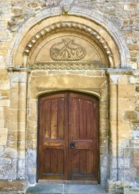 St Peter's, Dumbleton: the north door