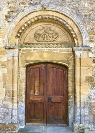 St Peter's, Dumbleton: the north door